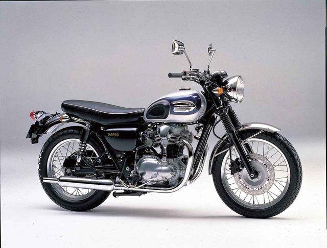画像: 1999/2 KAWASAKI W650 ●空冷4ストOHC4バルブ並列2気筒●675㏄●50PS/7500rpm●5.7㎏-m/5500rpm●194㎏ ●100/90-19・130/80-18●68万6000円