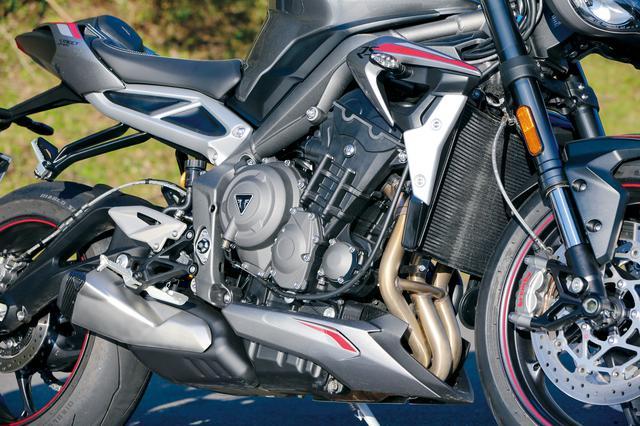 画像: 実に9%ものパワーアップを実現し、123PSとなった3気筒エンジン。Moto2クラスで培った技術を惜しみなく投入。