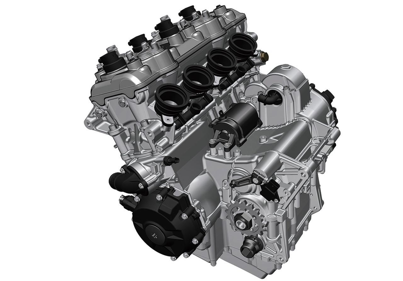 画像: 現行S1000RRベースの大幅な改良を施された水冷直4エンジン。単体で5㎏の軽量化も達成。