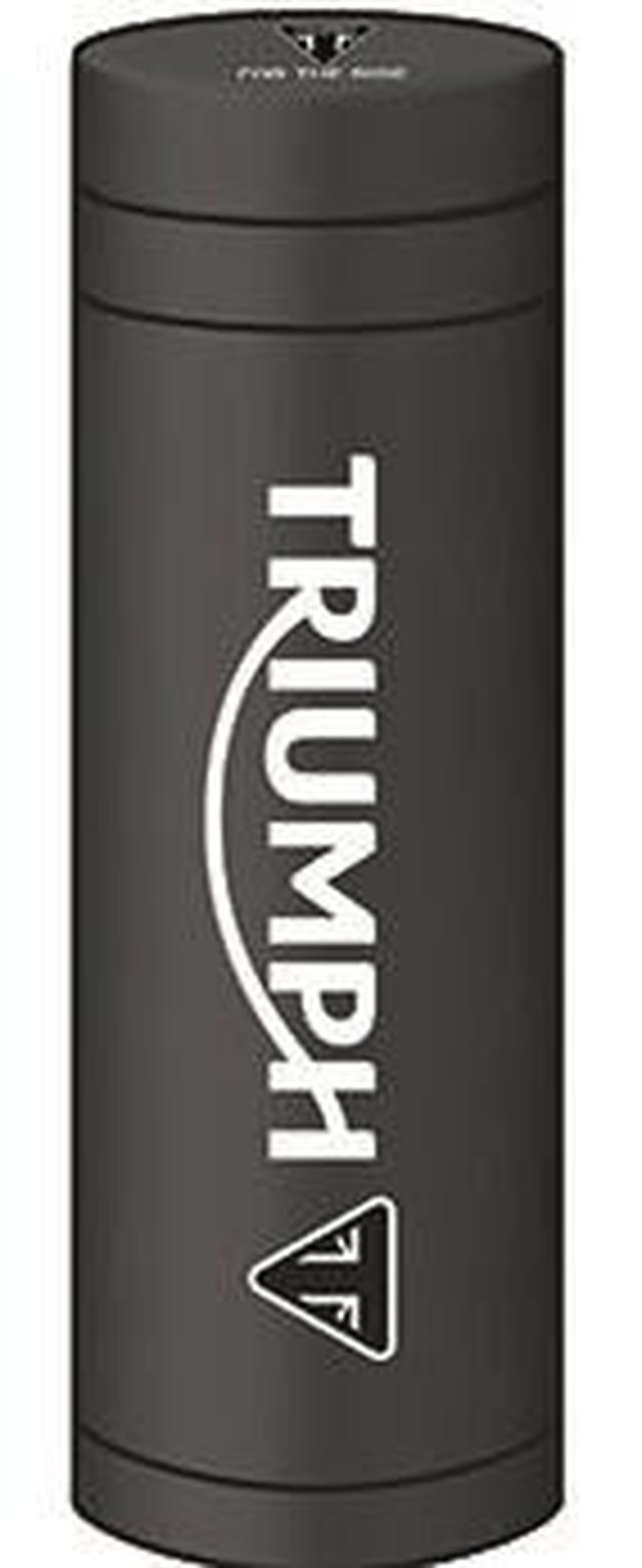 画像: 「トライアンフオリジナルサーモスステンレスボトル」縦 22.2 cm x 横 6.8 cm x 奥 6.8 cm