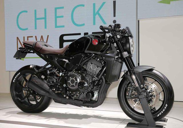 画像: 東京モーターショー2019で展示されたホンダ「CB1000R Customized Concept」 www.autoby.jp