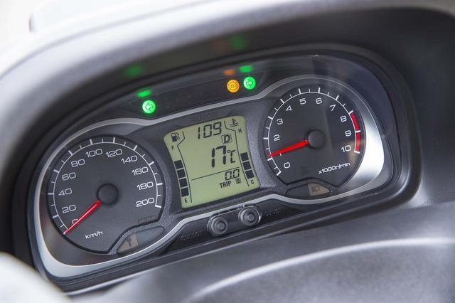 画像: メーターはアナログのスピード&タコと、オド&ツイントリップ、瞬間燃費を表示する。