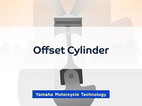 画像: オフセットシリンダー【YAMAHA Motorcycle Technology】 youtu.be