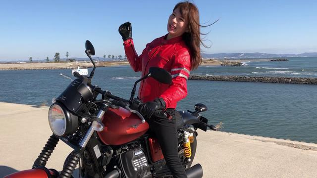 画像: ゴーグル特集:葉月美優 MOTO GUZZI試乗インプレ(その1) www.youtube.com