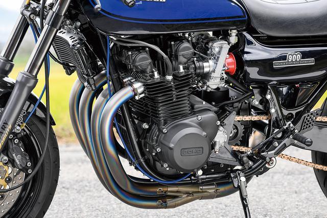 画像: エンジンはノーマル903ccの仕様でフルオーバーホールがされている。外部の仕上げもライン取り回しなどもきっちり仕立てた。