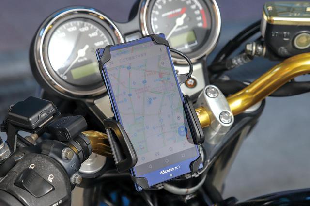 画像: USBソケットと電源スイッチ付きが便利!【バイクスマホホルダー】 - webオートバイ