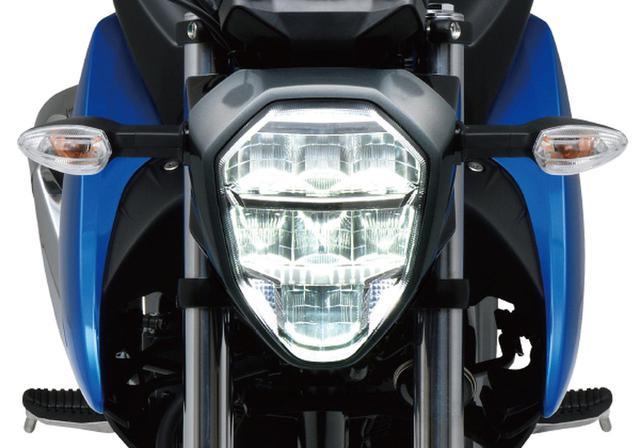 画像: 視認性に優れたLEDヘッドランプをを採用。スポーツバイクらしいスタイリッシュなデザインに