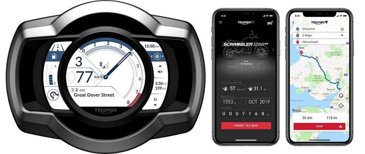 画像: トライアンフが「スマートフォン」や「Go Pro」と連携できる新技術「MY TRIUMPH コネクティビティシステム」を発表! いよいよ12月21日から発売開始です! - webオートバイ