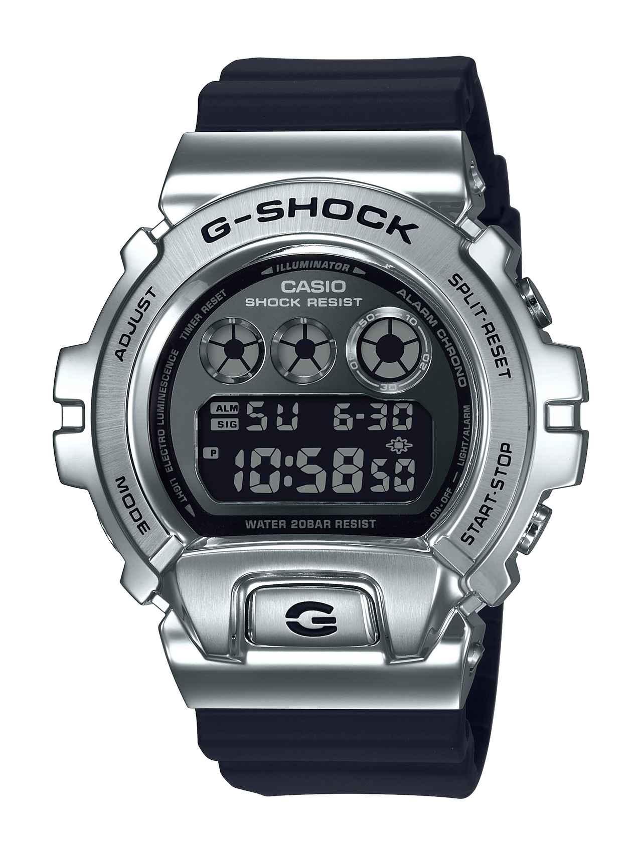 画像1: G-SHOCKの定番「三つ目」の6900シリーズに初のメタルベゼル採用モデルが登場!