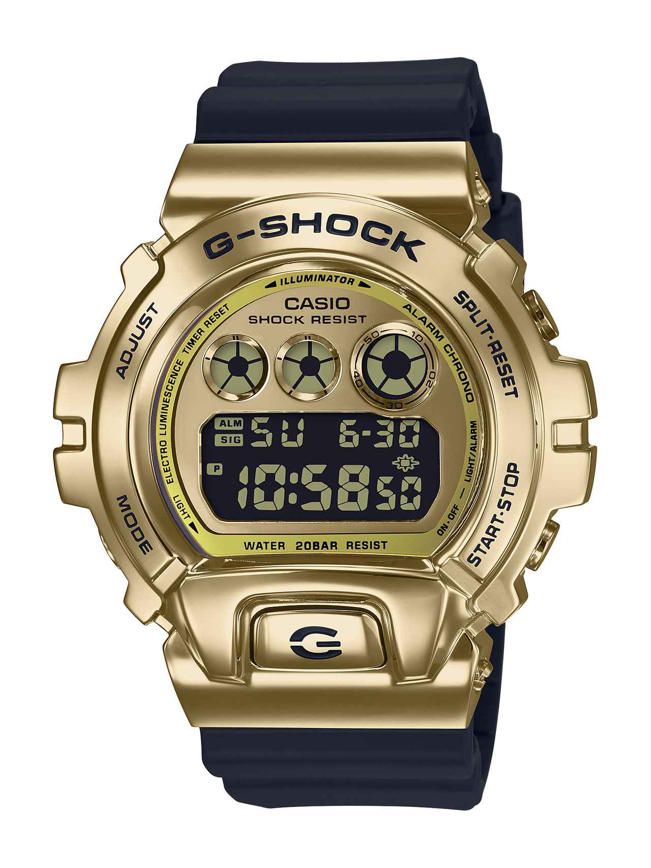 画像3: G-SHOCKの定番「三つ目」の6900シリーズに初のメタルベゼル採用モデルが登場!