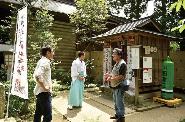画像: 足尾山神社への奉納や、イベントなどの窓口をされている権禰宜(こんねぎ)の根本さん。参拝者から起こった「バイク神社」を、これからも見守っていきたいと話されていました。