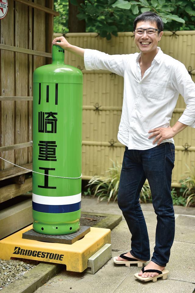 画像: この川重ガスタンクも、吉川さん奉納のもの。今となっては、とっても珍しく貴重です。よく見るとリバーマークがあるので、参拝時には要チェックです。