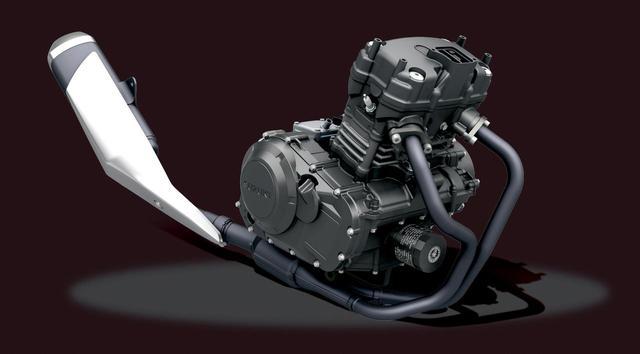 画像: ライバル中唯一のSOHC2バルブツインを採用。高回転型ではないから日常で扱いやすい。