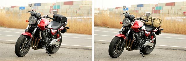 画像5: 【積載インプレ】ホンダ「CB400 SUPER FOUR」/日帰りサイズからキャンツーリング用まで4種類のバッグでパッキング・テスト