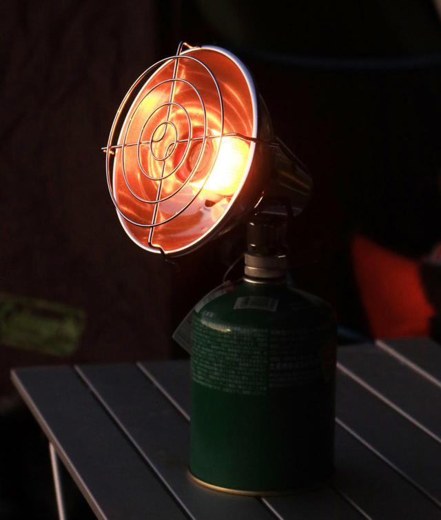 画像: OD缶を使うガスヒーター