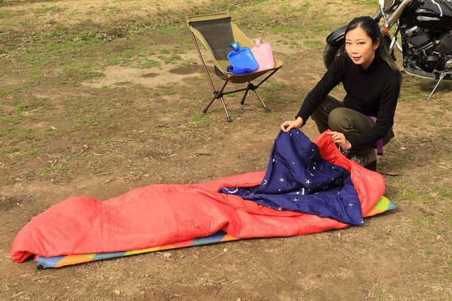 画像2: 寝袋を重ねて、最後にシュラフカバーです。