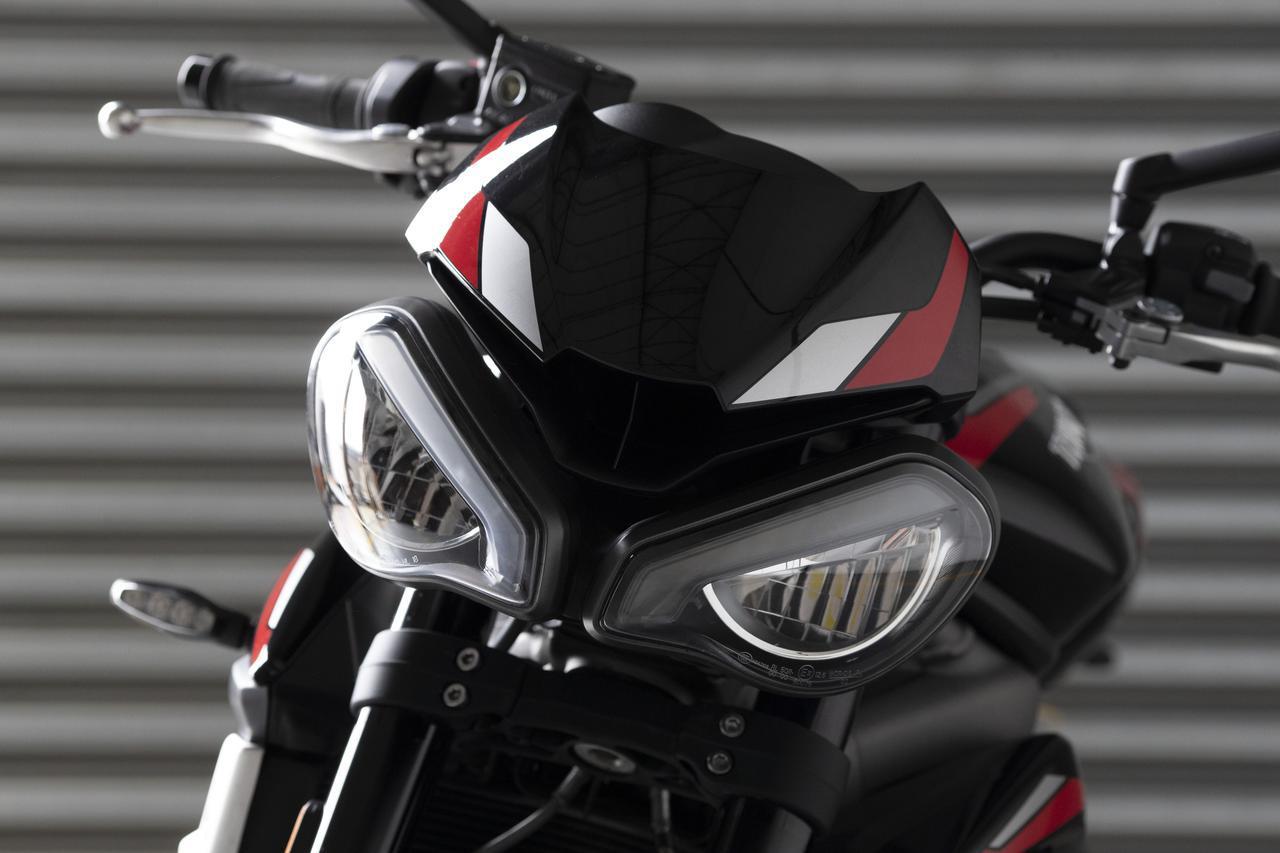 画像: 特徴的な新型ツインLED ヘッドライト
