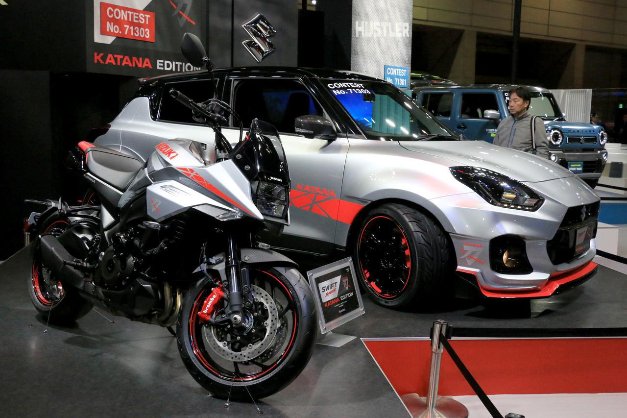 画像: 【速報】KATANAのデザインを落とし込んだ「スイフトスポーツ カタナエディション」をスズキがお披露目!【東京オートサロン2020】 - webオートバイ