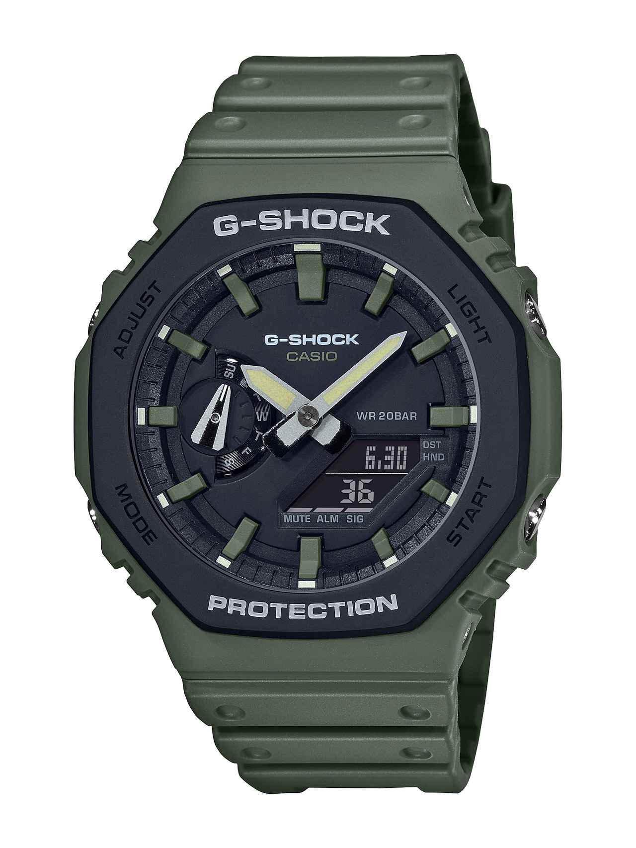 画像3: アウトドアでもストリートでも映えるG-SHOCK! 薄型の「GA-2100」シリーズにユーティリティカラーが登場