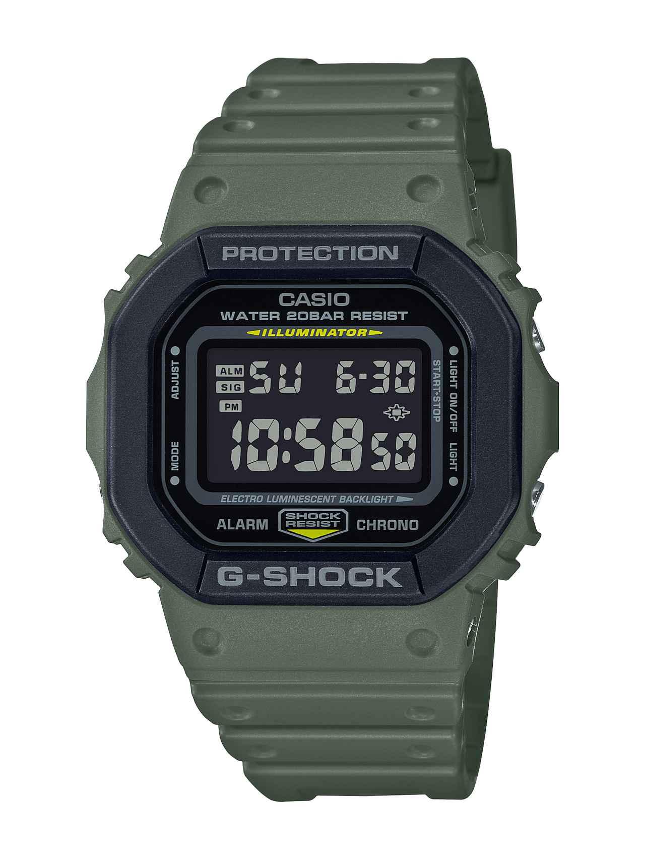画像4: 【G-SHOCK】定番の〈DW-5600〉シリーズに「ユーティリティカラー」モデルが新登場!