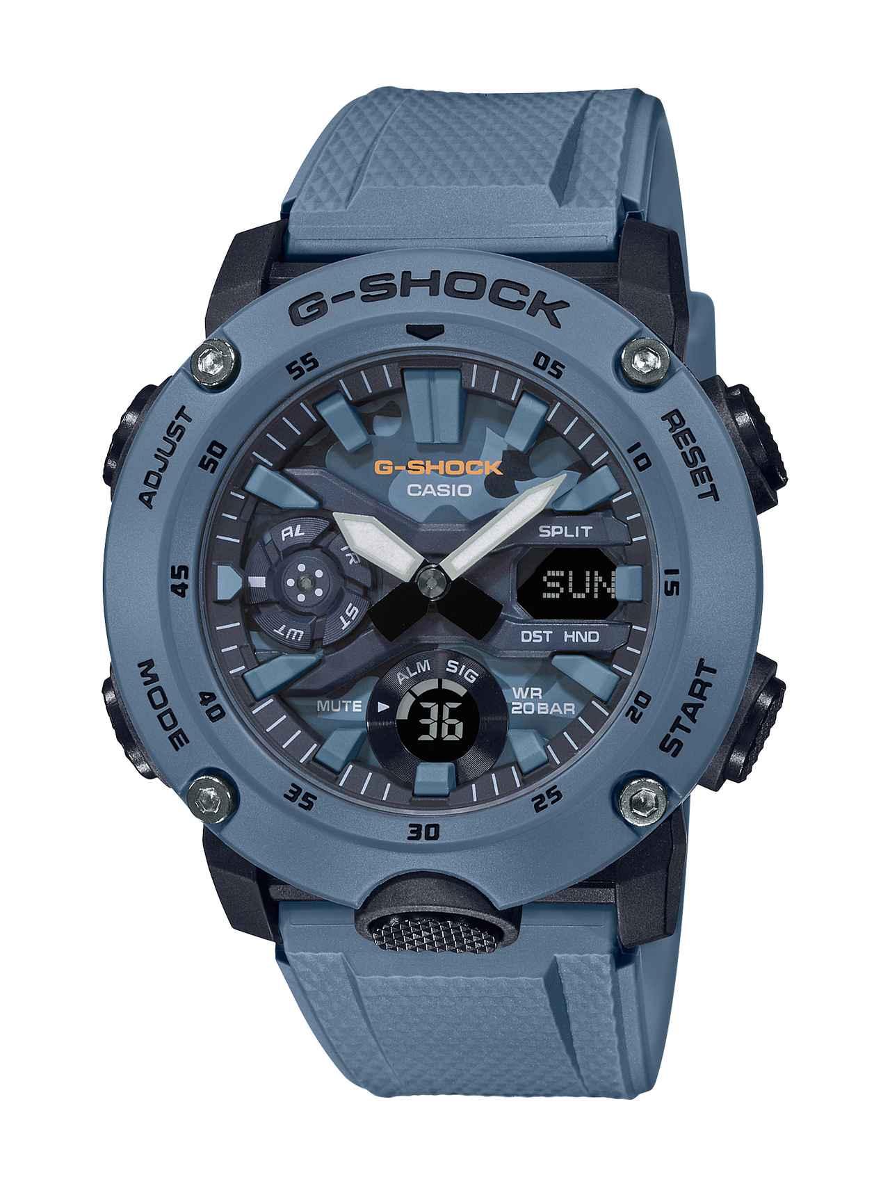 画像7: カーボンコアガード構造を採用したG-SHOCK「GA-2000」シリーズに、迷彩色のニューモデルが登場!