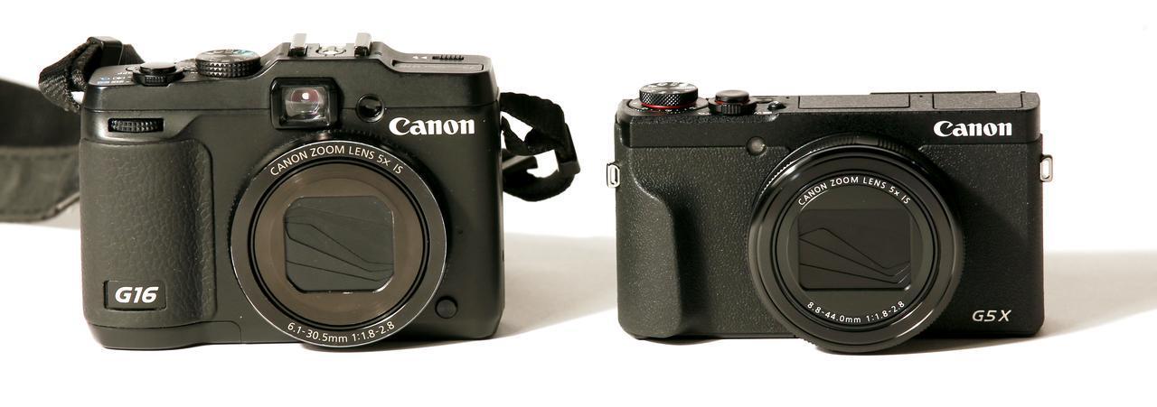 画像1: 左はG16。右はG5 X Mark II。