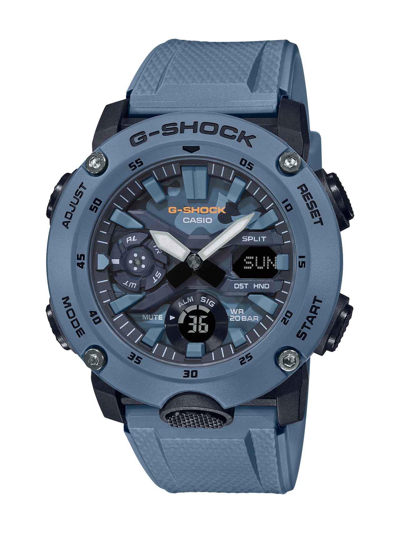 画像3: カーボンコアガード構造を採用したG-SHOCK「GA-2000」シリーズに、迷彩色のニューモデルが登場!