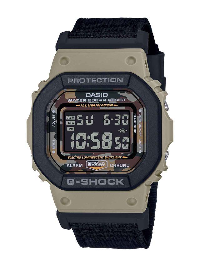画像1: 【G-SHOCK】定番の〈DW-5600〉シリーズに「ユーティリティカラー」モデルが新登場!
