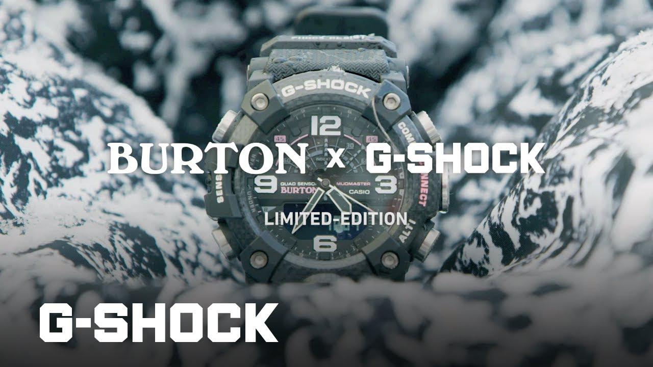 画像: Burton Collaboratiom model GG-B100BTN: CASIO G-SHOCK MUDMASTER youtu.be