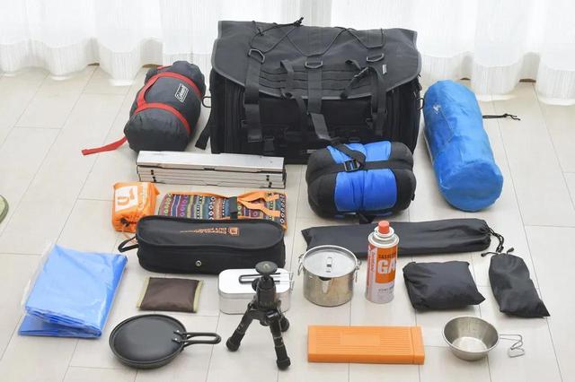 画像: 今回のキャンプ用品