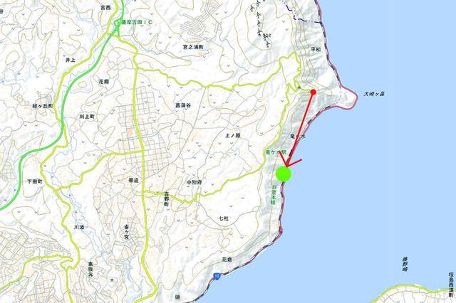 画像: 日豊本線(竜ヶ水~鹿児島)鹿児島県
