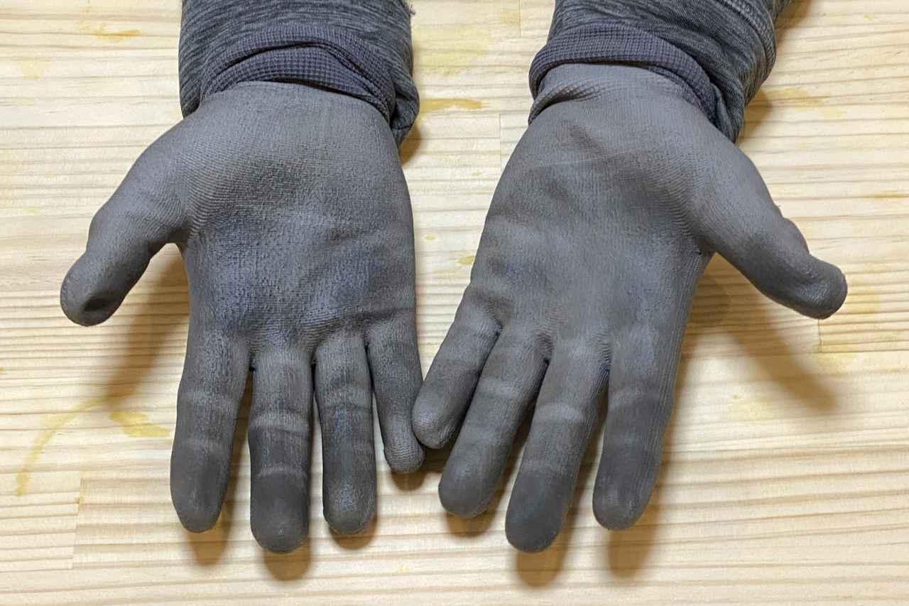 Images : 10番目の画像 - 【写真をまとめて見る】ワークマン 匠の手 ウレタン背抜き手袋(税込99円) - webオートバイ