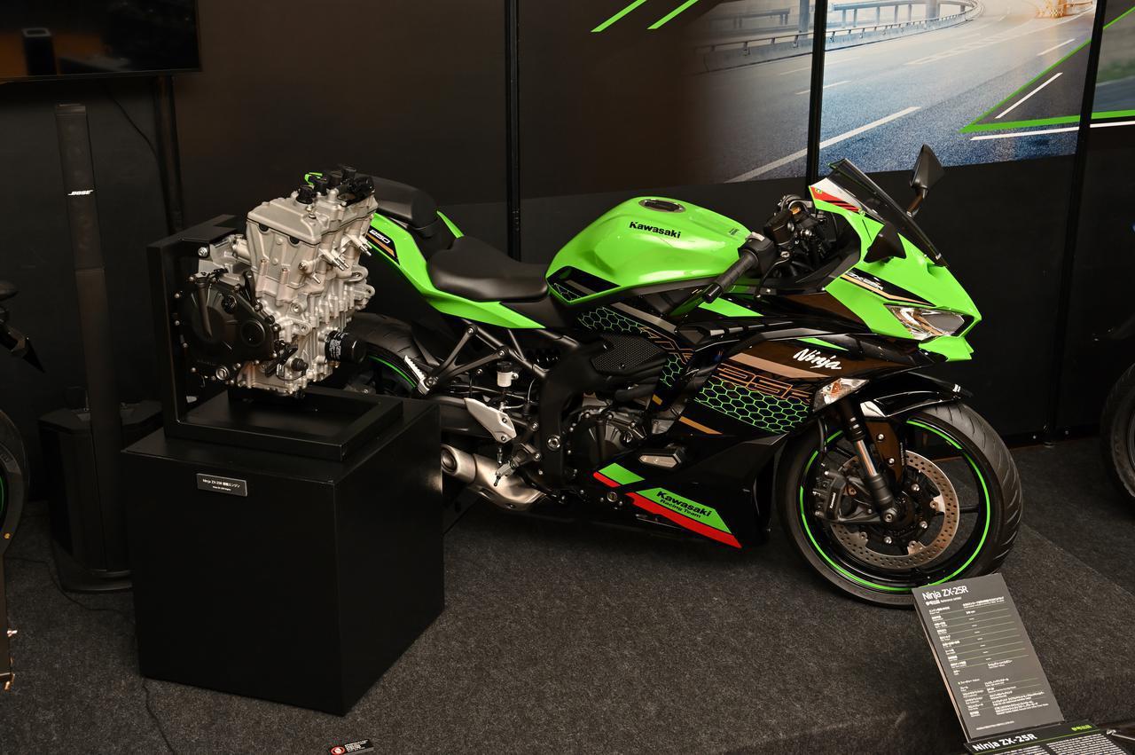 画像: なんと!ZX-25Rのエンジン単体初公開!! - webオートバイ