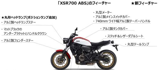 画像2: XSR900と同じく「ホワイト」をラインナップ!