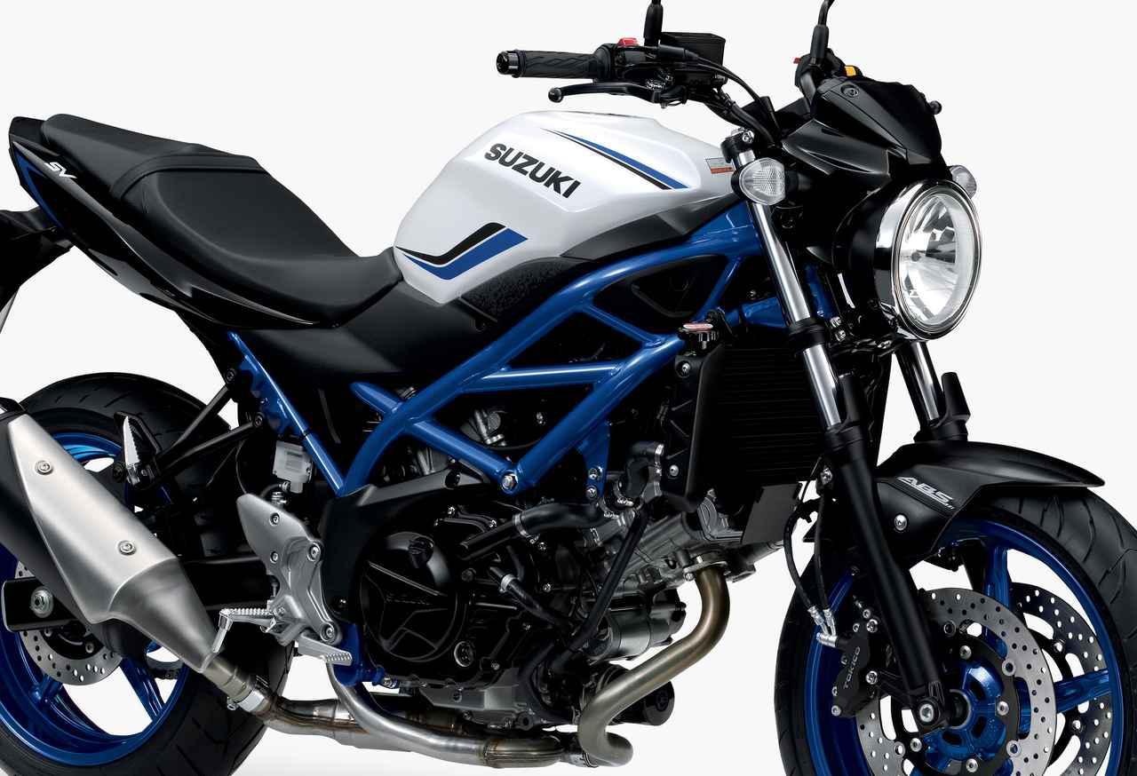 画像: SV650の2019年モデルは、トラスパイプフレームが際立つ3色をラインナップ! - webオートバイ