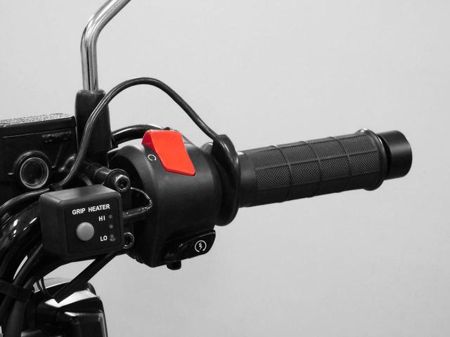 画像: 純正グリップヒーターもスタンバイ。スイッチボックスが右手側に装着される模様。