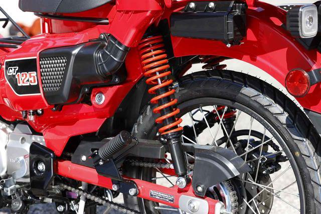 画像: キタコからは赤い「リアショック」(1つ税別6,400円)が用意されるよう。
