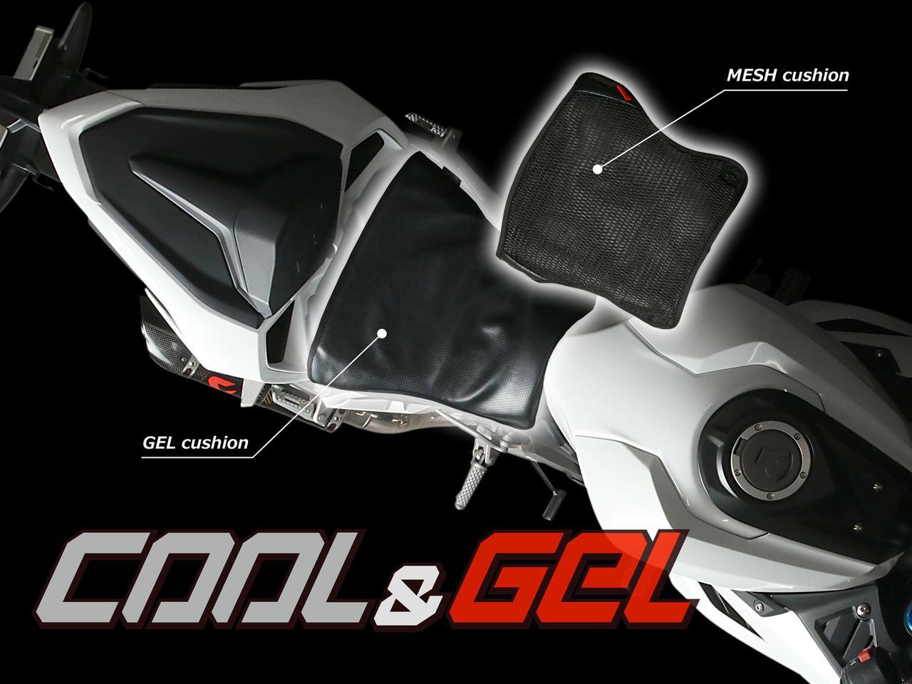 画像: DSC443-BK バイク用シートクッションセット クール&ゲル - DOPPELGANGER(ドッペルギャンガー)