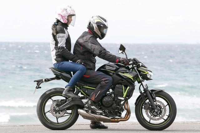 画像: カワサキ「Z650」木川田ステラのタンデム・チェック