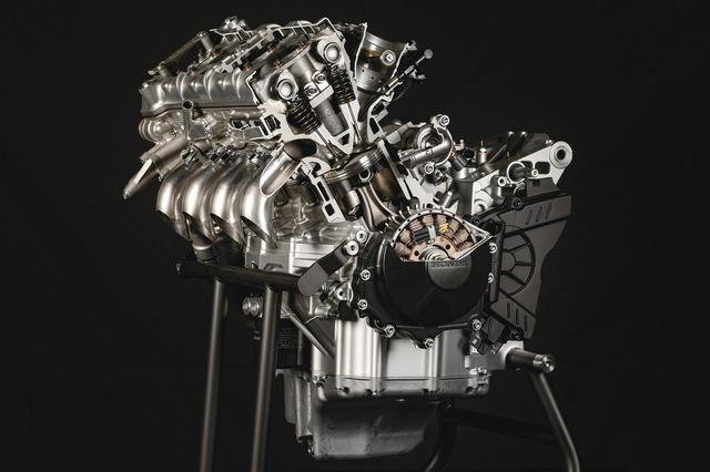 画像: RC213Vと同じボア・ストローク、フィンガーフォロワーロッカーアーム、セミカムギアトレインなど、最高の技術を総動員したエンジン。