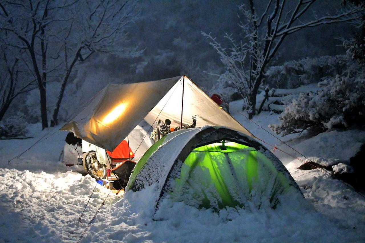 画像: ホンダSUPER CUB 90&70でゆく、信州・雪中キャンプツーリング - webオートバイ