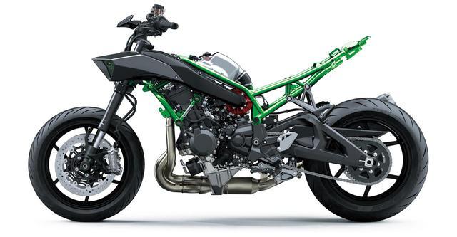 画像4: カワサキのスーパーネイキッド「Z H2」は何がすごいのか? エンジン・フレーム・装備を解説
