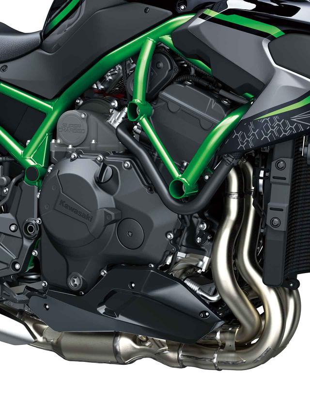 画像3: カワサキのスーパーネイキッド「Z H2」は何がすごいのか? エンジン・フレーム・装備を解説