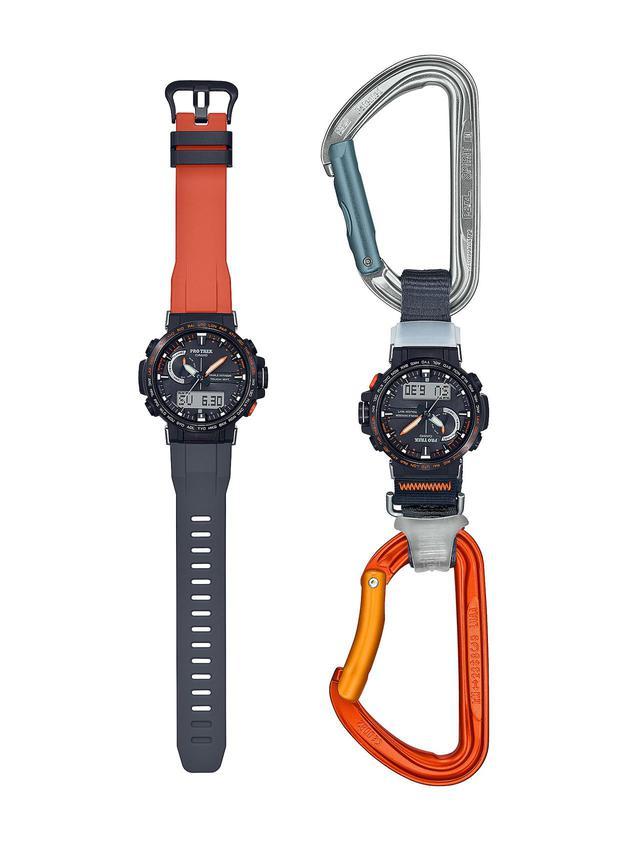 画像4: アウトドア好きの物欲をくすぐるプロトレック! 限定1000本、日本フリークライミング協会公認の腕時計