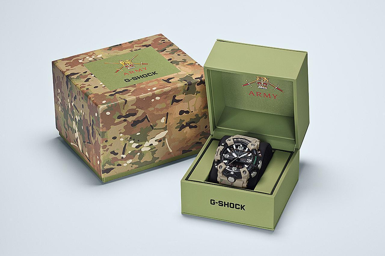 画像4: G-SHOCKがイギリス陸軍とコラボ!? タフネスな「マッドマスター」がより頼もしく見えるカモフラ柄のミリタリーウォッチ