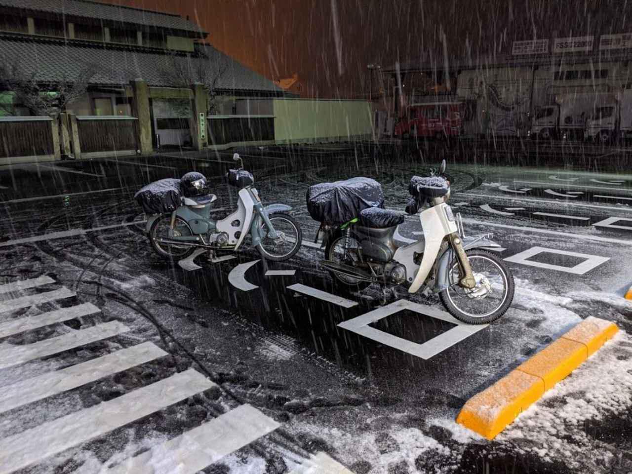 画像: 1月に行なった信州雪中キャンプツーリングでのヒトコマ。 www.autoby.jp