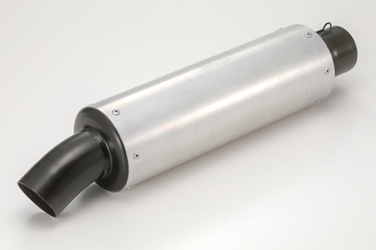 画像: 変わりダネとして紹介したいType-Y(オールドスタイル)。アルミ外筒+黒塗装済みのスチール製両エンドで構成される。'80年代のCBX400F用キットパーツ・マフラーを彷彿させるデザインで、外筒径はミドルバイクに合うφ90mmのみ。サイレンサー長は250~500mmあり。
