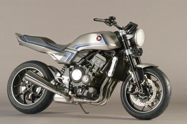 画像: Honda CB-F CONCEPT エンジン形式:水冷4ストDOHC4バルブ並列4気筒/総排気量:998cc