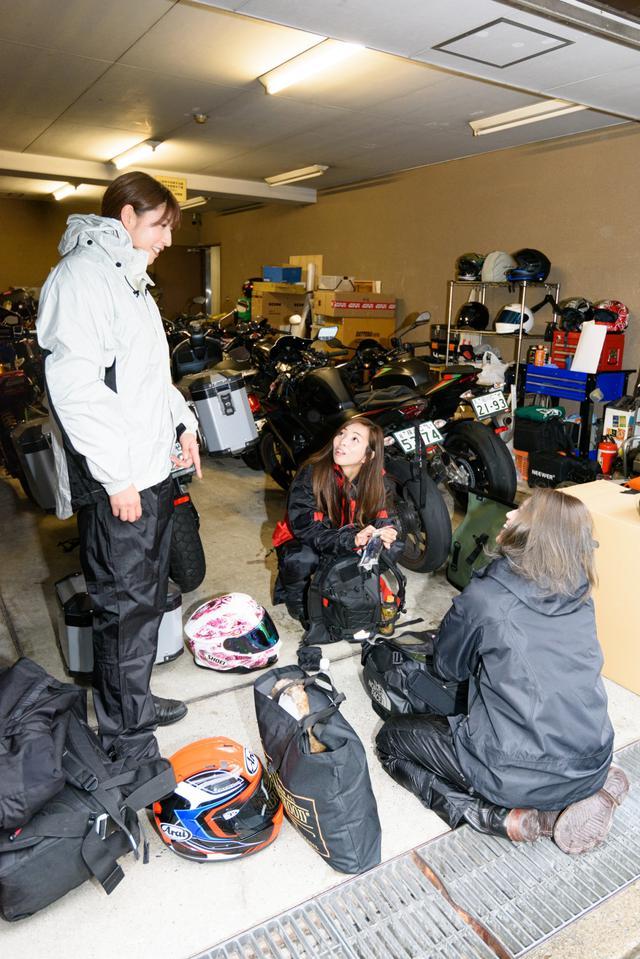 画像1: さぁ!出発のためにキャンプ用品をバイクに積むよー\(^o^)/
