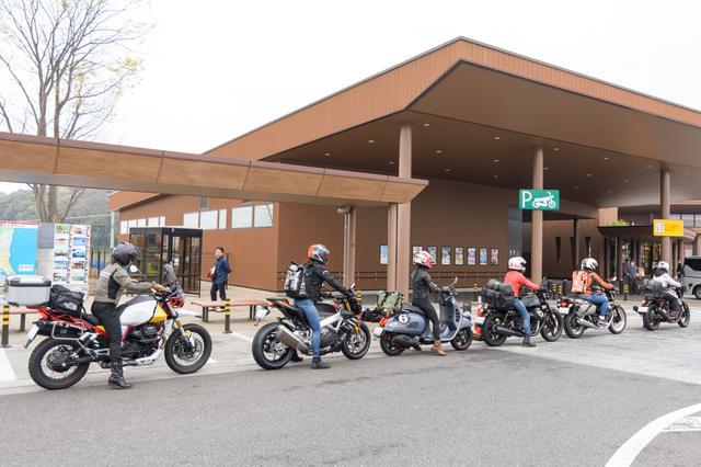画像: なんか、圧巻!! オートバイ女子部が一列にこんな形で並んでたら、めっちゃ目立つわ(≧ε≦*)